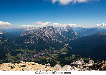 Alpine city lying in valley