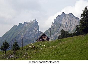 Alpine farm house