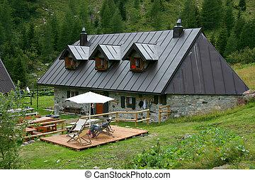 Alpine farm in the Giulian alps