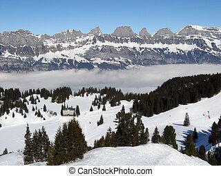 Alpine hotel in ski resort Flumserberg