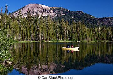 Alpine Lake - Beautiful high mountain alpine lake in summer