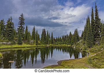 Alpine Lake in Revelstoke National Park British Columbia Canada