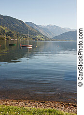 Alpine lake, Zell am see in Austria