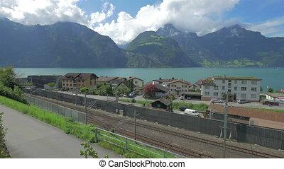 Alpine landscape of Switzerland, 4k UHD