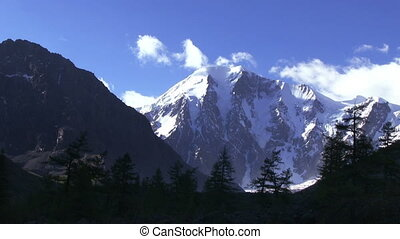 Alpine Landscape. - Alpine landscape. The top of a snowy...