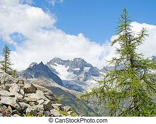 Alpine landscape - Summer alpine landscape near Zermatt,...