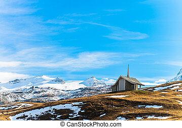 Alpine mountain from Zermatt, Switzerland