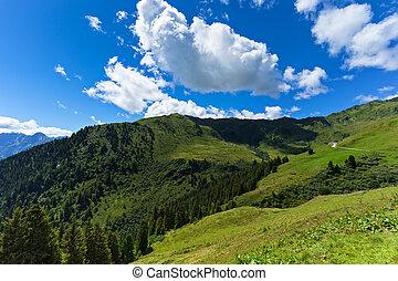 Alpine mountain landscape. Austria, Tirol, Zillertal, Zillertal, High Alpine Road