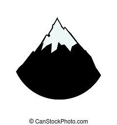 alpine mountain with snow vector illustration