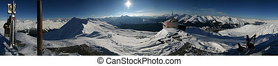 Alpine Panorama 360 - 360 degree panorama from the top of...
