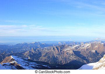 alpine panorama in the swiss alps