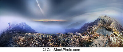 mystical fog illuminated