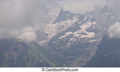 Alpine peaks landskape background. Jungfrau, Bernese...