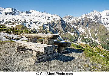 Alpine Picnic Area - Picnic area at the Grossglockner high...
