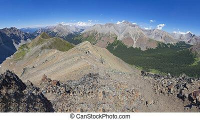 Alpine Ridge in the Rocky Mountains Alberta Canada