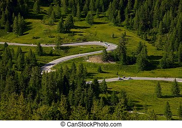 Alpine Road - Road of a high mountain pass