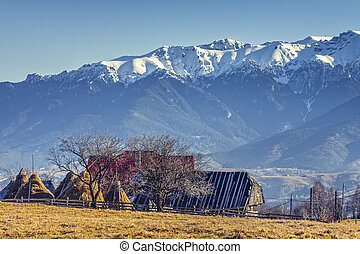 Alpine rural landscape
