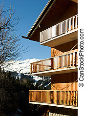 Alpine ski resort chalet