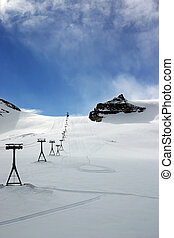 Alpine ski slopes