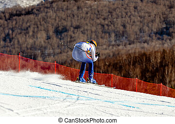 alpine skiing competitive