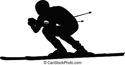 alpine skiing downhill skier athlete