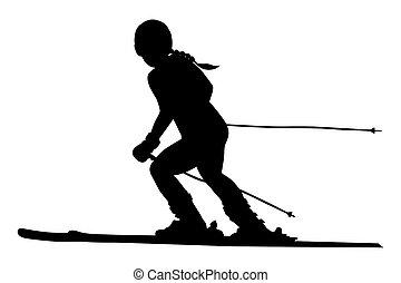 alpine skiing female athlete