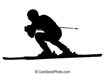 alpine skiing male athlete