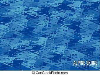 Alpine Skiing vector background