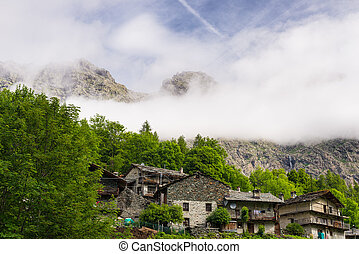 Alpine small village
