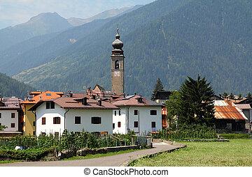 Alpine town in Italy - Pellizzano - Alpine town in province ...