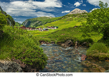 Alpine village in Austria.