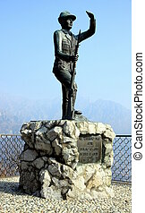 A monument to the casualities of all the wars in Civenna, Italy