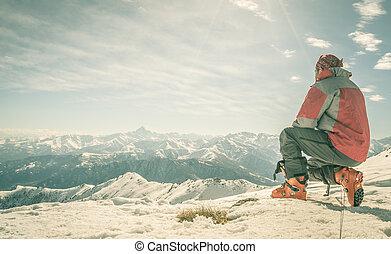 alpinist, 山頂部