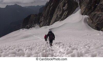 alpinists, conquérir, sommet