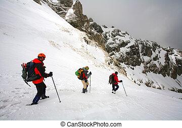 alpino, viajando arduamente