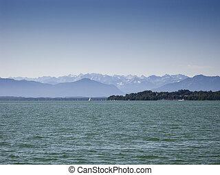 Alps at Starnberg lake