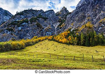 Alps autumn mountain landscape