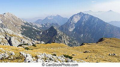 alps, berg, aus, panorama