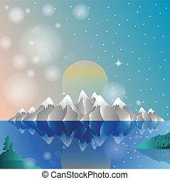 Alps card winter