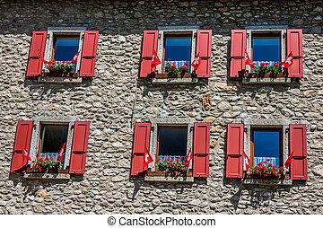 alps, haus, traditionelle , switzerlands, land