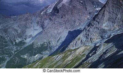 Alps high mountains panorama.