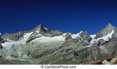 Alps high mountains. - Alps high mountains panorama.