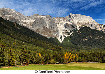 Alps in autumn, Mieming, Austria, Tirol.
