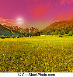 Alps in early morning