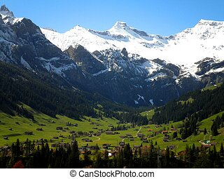 Alps in Switzerland - A beautiful view over the Alps in...