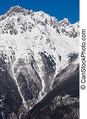 Alps in winter - 20 - Mountain around the Oz en Oisans ...