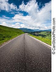 alps, ländlicher weg