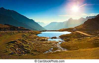 alps, landschaftsbild