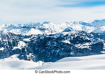 Alps mountain landscape. Winter landscape
