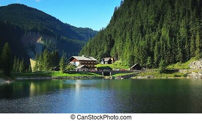 Alps mountains. - Alps mountains and tourist house.